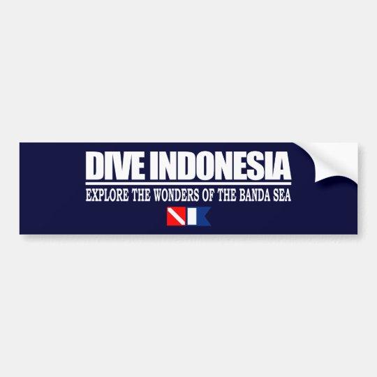 Dive Indonesia Bumpersticker Bumper Sticker