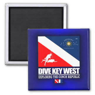 Dive Key West Square Magnet