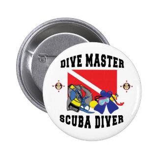 Dive Master SCUBA Diver 6 Cm Round Badge