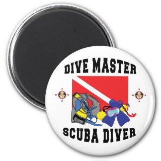 Dive Master SCUBA Diver Magnets