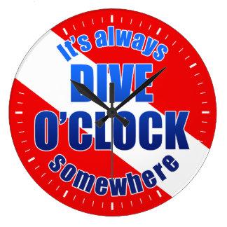 Dive O'Clock Large Clock