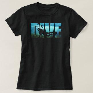 DIVE Scuba Diving Womens Black T-Shirt