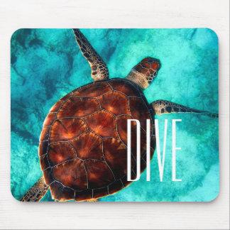 Dive Sea Turtle Mouse Mat