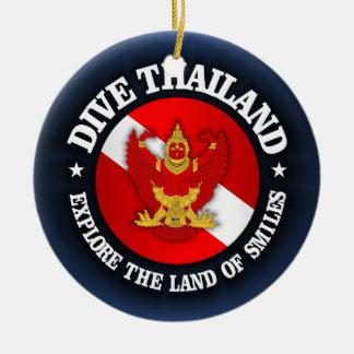 Dive Thailand (rd) Round Ceramic Decoration