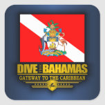 Dive the Bahamas 2 Square Sticker