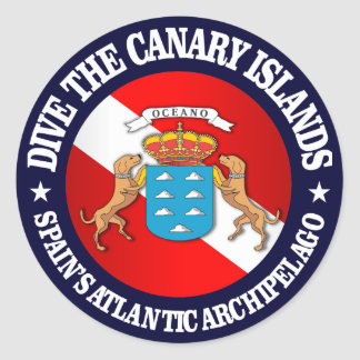 Dive the Canary Islands Classic Round Sticker