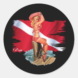 DiveBabe by DiversDen Classic Round Sticker