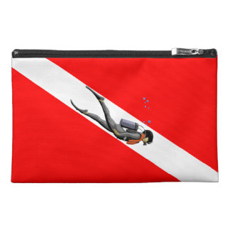 Diver And Dive Flag Travel Accessory Bag