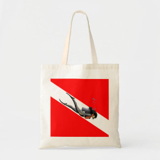 Diver And Dive Flag Canvas Bag