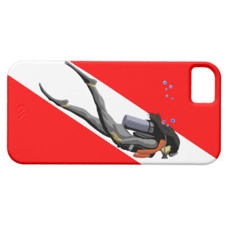 Diver And Dive Flag Case For The iPhone 5