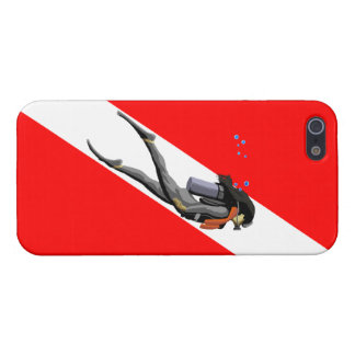 Diver And Dive Flag iPhone 5/5S Cases