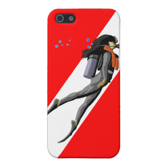 Diver And Dive Flag iPhone 5 Case