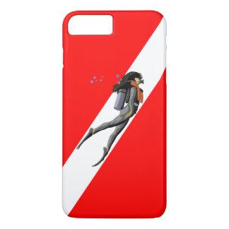 Diver And Dive Flag iPhone 7 Plus Case