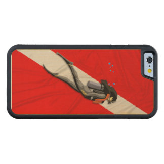 Diver And Dive Flag Maple iPhone 6 Bumper Case