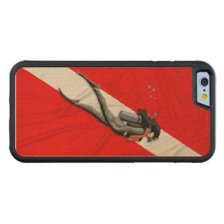 Diver And Dive Flag Maple iPhone 6 Bumper Case