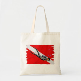 Diver And Wrinkled Dive Flag Bag