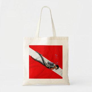Diver And Wrinkled Dive Flag Tote Bag