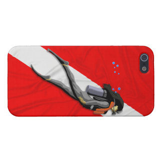 Diver And Wrinkled Dive Flag Cover For iPhone 5/5S