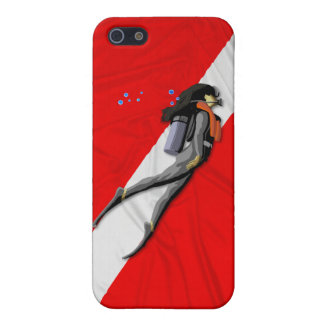 Diver And Wrinkled Dive Flag iPhone 5/5S Case