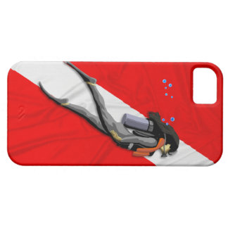 Diver And Wrinkled Dive Flag iPhone 5 Cases