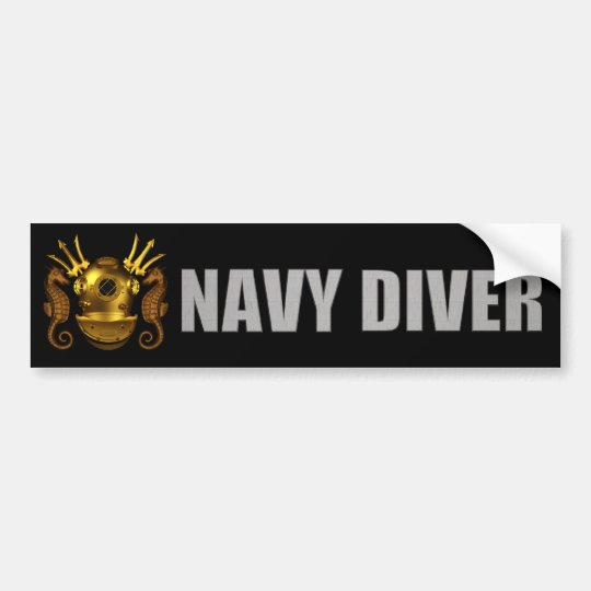 diver bumper sticker