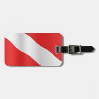 Diver down flag bag tag