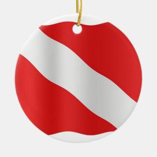 Diver down flag christmas ornament
