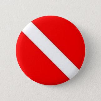 Diver Down Flag design 6 Cm Round Badge