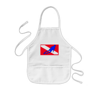 Diver Down Flag Gift Kids Apron