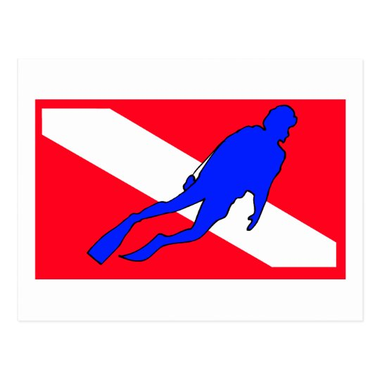 Diver Down Flag Gift Postcard