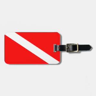 Diver Down Flag Luggage Tag