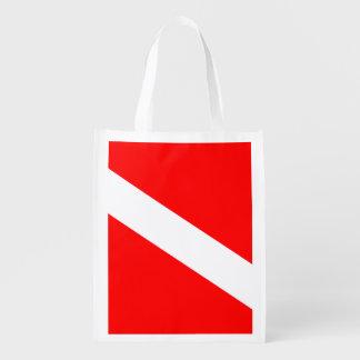 Diver Down Flag Reusable Grocery Bag