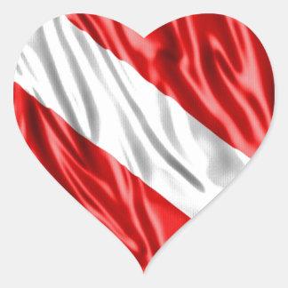Diver Flag Heart Sticker