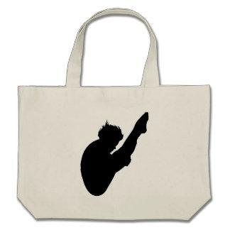 Diver Silhouette Canvas Bags