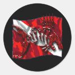 DiverDown Collection Round Sticker