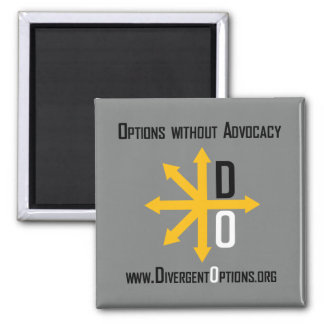 Divergent Options Square Magnet