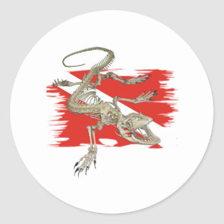 Divers Collection by FishTs.com Round Sticker
