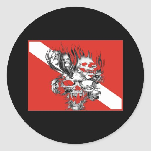 Divers Custom Collection Round Stickers