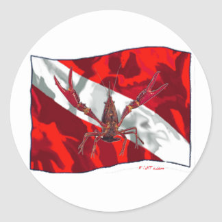 Divers Den Collection Round Stickers