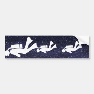 Divers Minimal Bumper Sticker