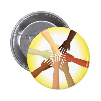 Diverse Hands 6 Cm Round Badge