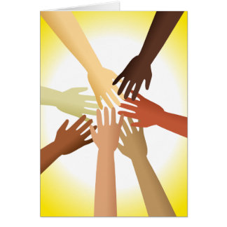 Diverse Hands Greeting Card