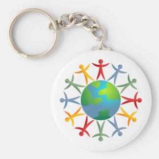 Diverse World Basic Round Button Key Ring