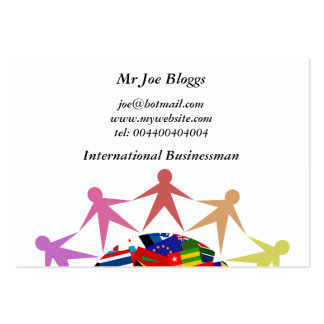 Diverse World, Pack Of Chubby Business Cards