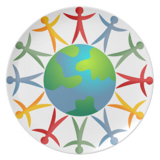 Diverse World Party Plate