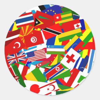 Diverse World Round Sticker