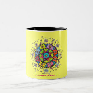 Diversity - Black Two Tone Mug (yellow)
