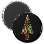 Diversity Christmas Tree Text 6 Cm Round Magnet