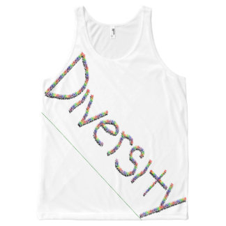 Diversity in Words All-Over Printed Unisex Tank, L All-Over Print Tank Top