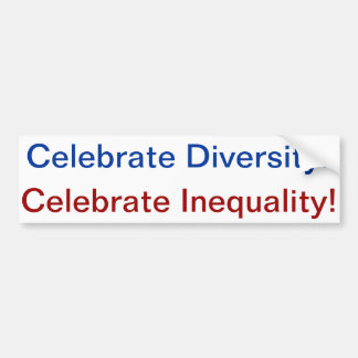 diversity=inequality car bumper sticker